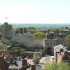 View of Lincoln castle from the cathedral.