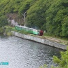 The train going round the lake at Llanberis North Wales this was taken from the boat on the lake.