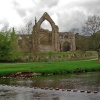 Bolton Abbey and River Wharfe, North Yorkshire, England.