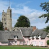 St. Mary's Church and Almshouses on the Green, Cavendish, Suffolk