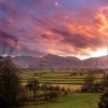 Sunset from Applethwaite, Cumbria