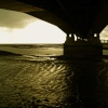 Under the Severn Bridge, Severn Beach, Gloucestershire