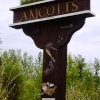 Amcotts village sign