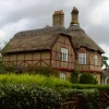 Thatched houses in Somerleyton, Suffolk