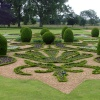 The formal garden at Oxburgh Hall
