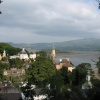 Portmeirion, Gwynedd, Wales - View over Estuary to mountains beyond