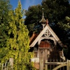 Curious cemetery gatehouse, Middle Claydon, Bucks