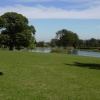 View across the upper and middle lakes at Cusworth Hall & Museum, South Yorkshire
