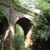 Disused railway bridge in Grace Dieu woods, Thringstone, Leicestershire