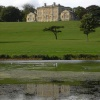 Cusworth Hall & Museum from the upper lake, Doncaster, South Yorkshire