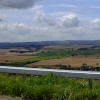 The view from the top of Bolsover looking across Derbyshire