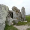 West Kennet Long Barrow,  a mile from Silbury Hill