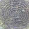 Prehistoric petroglyph in The Rocky Valley, Tintagel, Cornwall