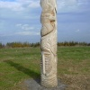 Brodsworth Community Woodland totem pole, South Yorkshire
