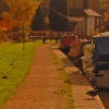 Autumn afternoon on the canal at Polesworth, Warwickshire