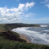 On the Cleveland way across Cayton Bay to Scarborough