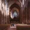 Inside Chester cathedral.