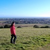 Catching the wind on Highdown Hill