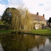 Village green and pond, Souldern, Oxon.