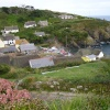 Cadgwith Cove from Praze Gooth.