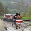 Canal boat entering the aquaduct