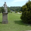 Chatsworth garden statue and lawns