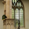 Inside the parish church, Northleach, Gloucs.