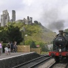 Corfe Station and castle
