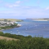 The Camel Estuary and Padstow seen from Dennis Hill