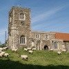 Parish Church - with flock, Soulbury, Bucks