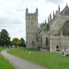 A Panorama Photo of Exeter Cathedral and Close