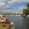 Boats moored on a Broad in Norfolk