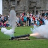 Cannon display at Pendennis Castle