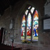 Stained glass window at St Leonard's Church