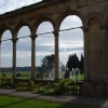 The fountain through the orangery