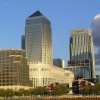 Canary Wharf in the early evening light