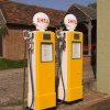 Petrol pumps at Harrietsham, Kent