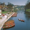 Boating on the River Nidd at Knaresborough, North Yorkshire