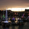 Scarborough Harbour at Christmas