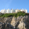 Hotels on cliff