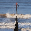 Breakwater on Sheringham beach
