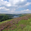 Howden Dam. Ladybower Reservoir. Peak District Derbyshire.