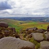 Stanage Edge View.