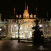 Leicester Town Hall Square at night