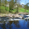 The weir along the River Ribble
