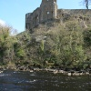 A view of Barnard Castle from the banks of the River Tees