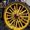 Wheel on a steam engine
