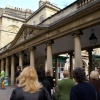 The entrance to the Bath Abbey and Roman baths.