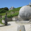 The famous globe in Durlston Country Park