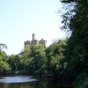 Warkworth Castle from along the River Coquet